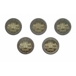 Duitsland 2 euro 2007 'Mecklenburg-Vorpommern' Letters A,D,F.G,J 5 stuks