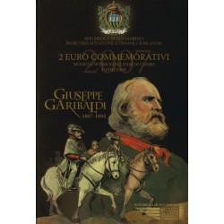 San Marino 2 euro 2007 in blister 'Giuseppe Garibaldi 1807 - 1882' - Tijdelijk van 65,- nu voor: