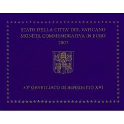 Vaticaan 2 euro 2007 in blister 'Geboortedag Benediktus XVI'