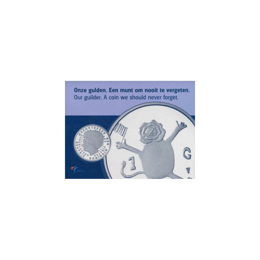 Koninkrijksmunten Nederland 1 gulden 2001 Laatste Gulden
