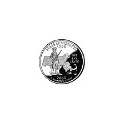 USA Quarter 2000 Massachusetts