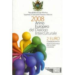San Marino 2 euro 2008 in blister 'Interculturele dialoog'
