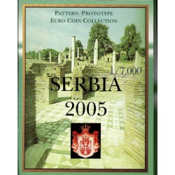 Servië blister 1c t/m 2 E 2005