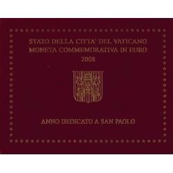 Vaticaan 2 euro 2008 in blister 'Paulusjaar de 2000e verjaardag van zijn geboortedag'
