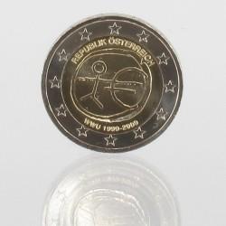Oostenrijk 2 euro 2009 '10 jaar Economische en Monetaire Unie'