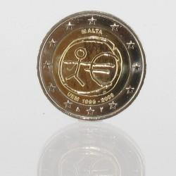 Malta 2 euro 2009 '10 jaar Economische en Monetaire Unie'