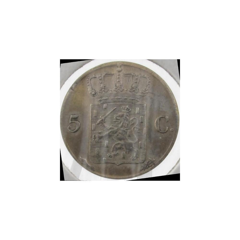 Koninkrijksmunten Nederland 5 cent 1827 U Overslag