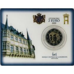 Luxemburg 2 euro in blister 2009 '90 jaar Troon van Groothertogin Charlotte'