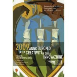San Marino 2 euro 2009 in blister 'Europees jaar van de creativiteit en innovatie'