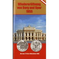 Oostenrijk 10 euro 2005 ''Wederopening van Burg Oper 1955''