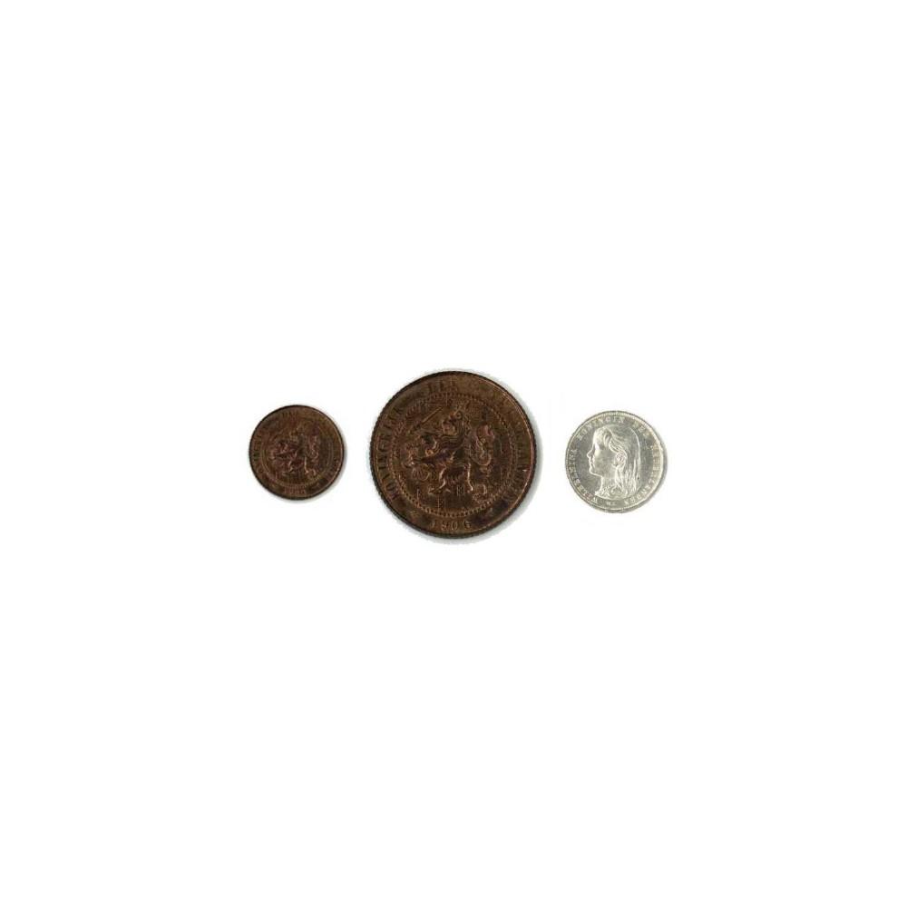 Koninkrijksmunten Nederland complete serie 1894: ½, 2½, 10 en  25 cent.
