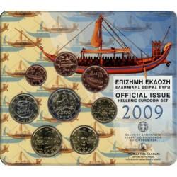 Griekenland BU-Set 2009 Met normale 2 euro