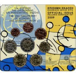 Griekenland BU-Set 2009 Met de 2 euro EMU
