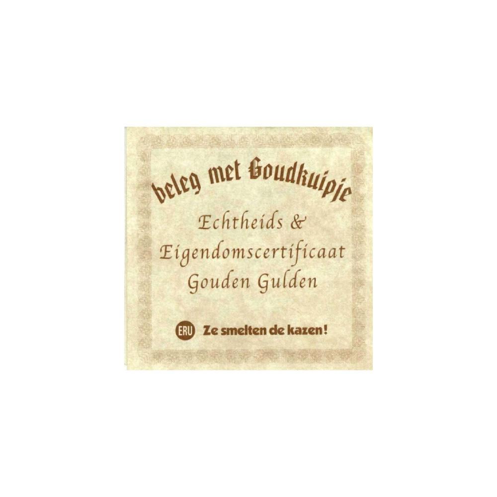 Koninkrijksmunten Nederland Nederland 1 gulden 1999 Eru Goud (Aanbieding; van €1495,- voor € 1395,-)