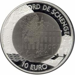 Luxemburg 10 euro 2010 '25 jaar akkoord van Schengen'