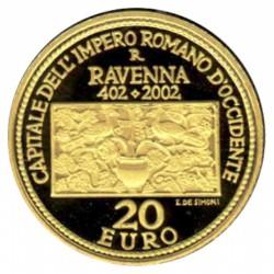 San Marino 20 & 50 Euro Goud 2002 1600 Jaar Ravenna