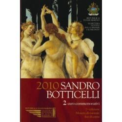 San Marino 2 euro 2010 in blister 'Sandro Botticelli'