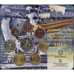 Griekenland BU-Set 2010 Met normale 2 euromunt