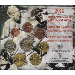 Griekenland BU-Set 2010 - Met de 2 euromunt 2010 '2.500e verjaardag slag bij Marathon'