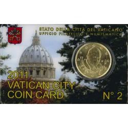 Vaticaan 50 cent 2011 in coincard nr. 2