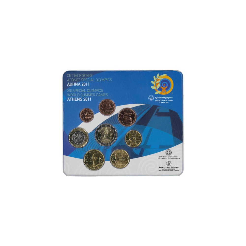Griekenland BU-Set 2011 - Met normale 2 euromunt