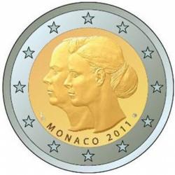 Monaco 2 euro 2011 'Huwelijk van Prins Albert II en Charlene Wittstock'