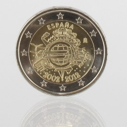 Spanje 2 euro 2012 '10 jaar EURO'