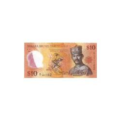 Brunei 10 Ringgit (plastic) 2011