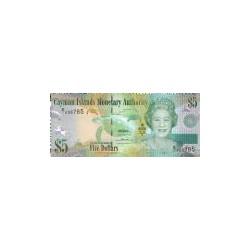 Cayman Islands 5 Dollar 2010