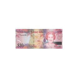 Cayman Islands 10 Dollar 2010