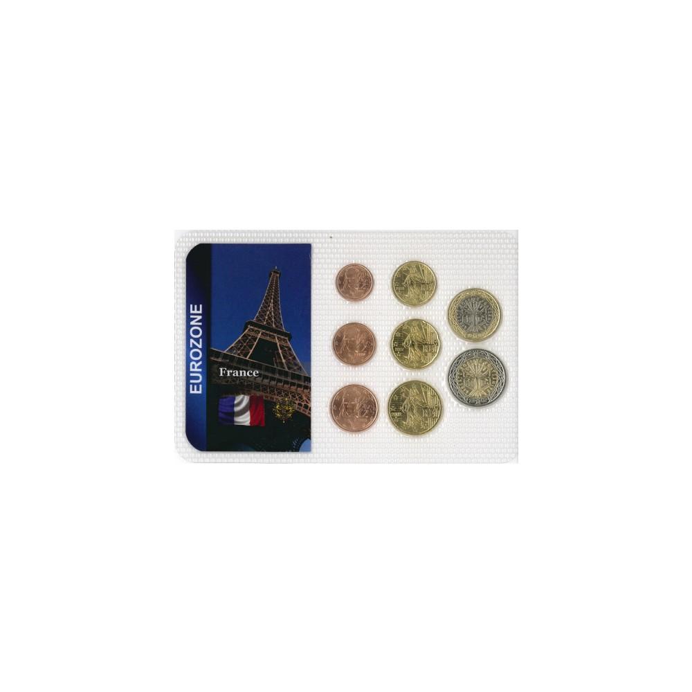 Europa Frankrijk Wereldset type 2   de Franse Euro