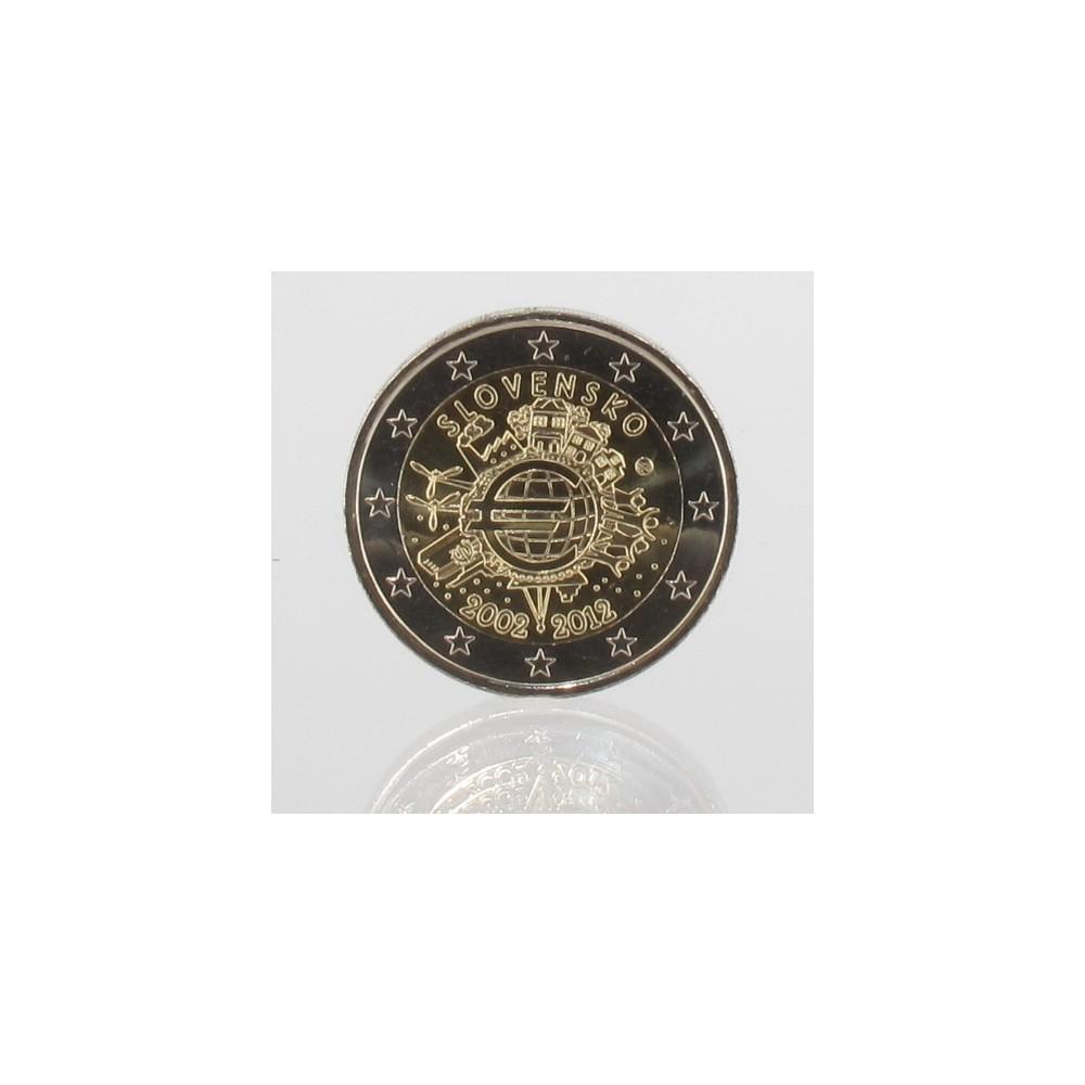 Slowakije 2 euro 2012 '10 jaar EURO'