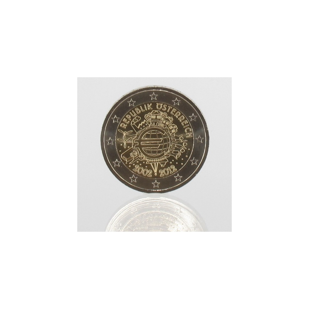 Oostenrijk 2 euro 2012 '10 jaar EURO'