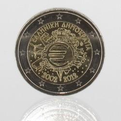 Griekenland 2 euro 2012 '10 jaar EURO'
