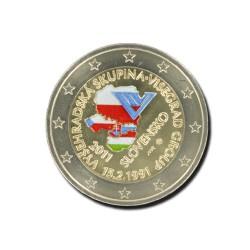 Slowakije 2 Euro 2011 '20ste verjaardag Visegrad Group' in kleur