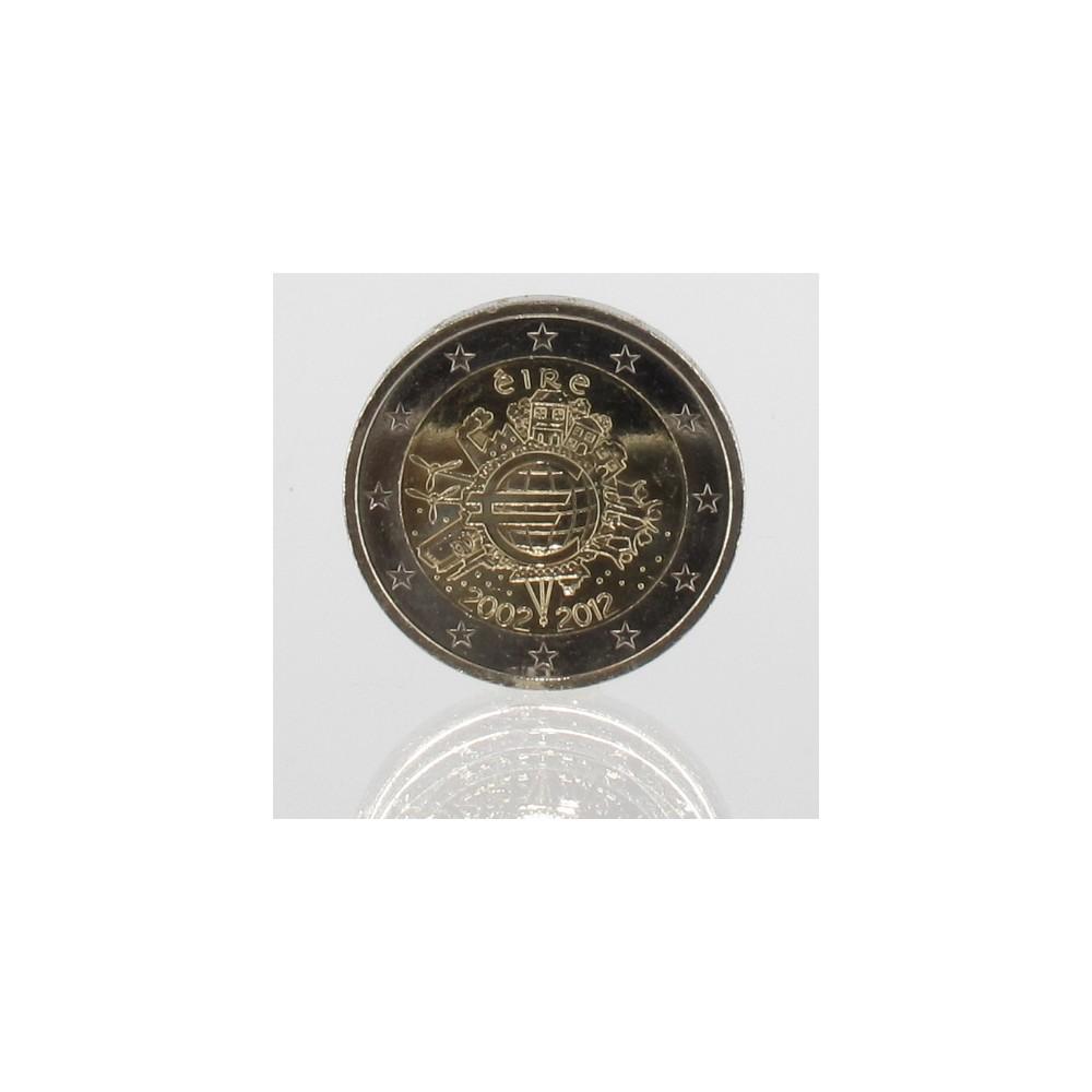 Ierland 2 euro 2012 '10 jaar EURO'