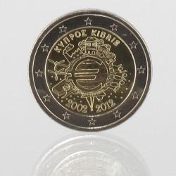 Cyprus 2 euro 2012 '10 jaar EURO'