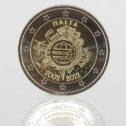Malta 2 euro 2012 '10 jaar EURO'