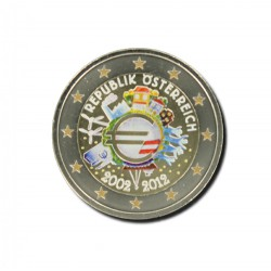 T1 Oostenrijk 2012 - 2 euro '10 jaar Euro'