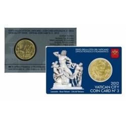 Vaticaan 50 cent 2012 in coincard nr. 3