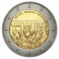 Malta 2 euro 2012 'Stemrecht' zonder muntteken