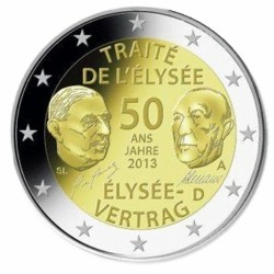 Duitsland 2 euro 2013 'Elysee verdrag' willekeurige letter