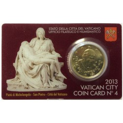 Vaticaan 50 cent 2013 in coincard nr. 4