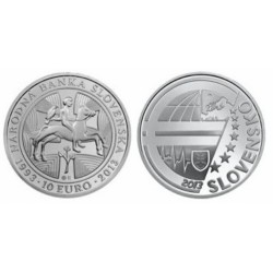 Slowakije 10 euro 2013 '20 jaar nationale bank'