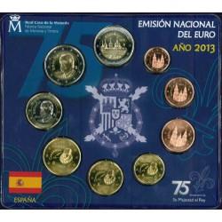 Spanje BU-Set 2013 '75e verjaardag koning Juan Carlos, incl. 2 euro El Escorial'