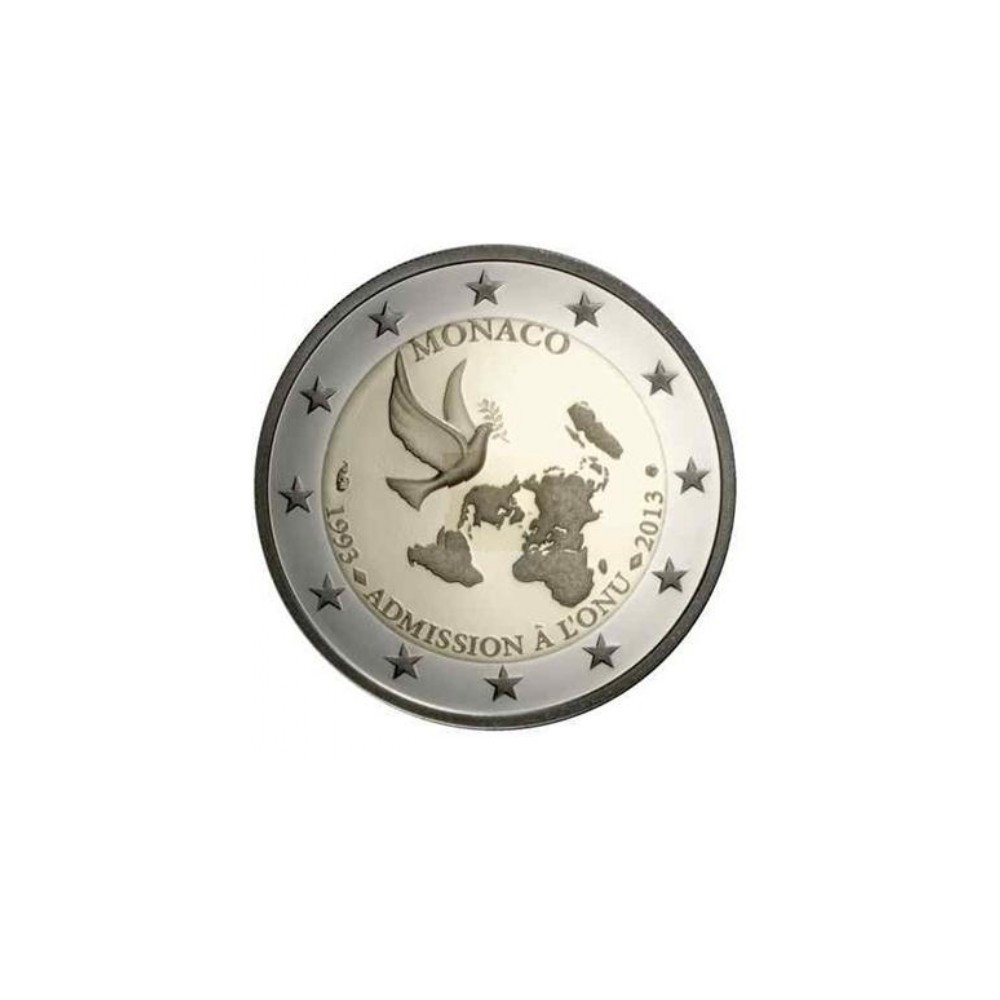 Monaco 2 euro 2013 '20 jaar lid VN'