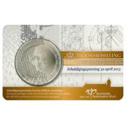 Nederland penning in coincard 2013 'Inhuldigingspenning Koning Willem-Alexander'