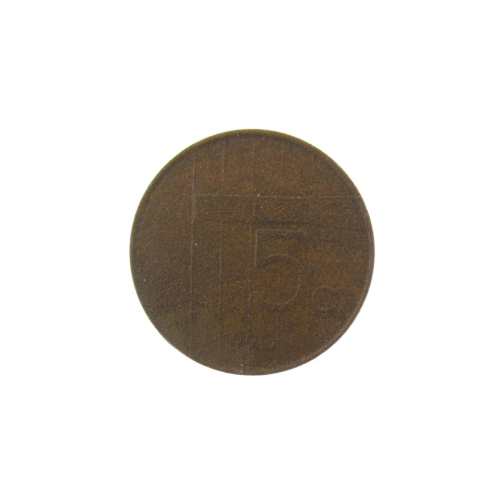 Misslag: 5 cent 1990 ½ dikte