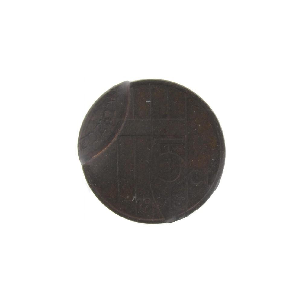 Misslag: 5 cent 1987 dubbele slag