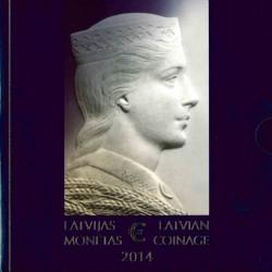 Letland BU-Set 2014 'Allereerste Letse euro's'
